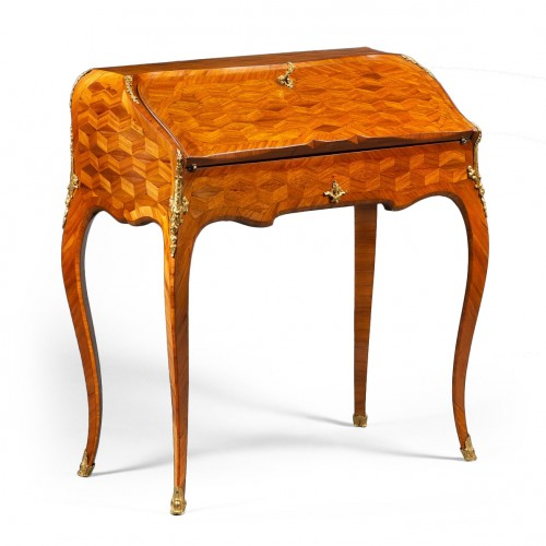 Satinwood and Rosewood Slant-Top Desk