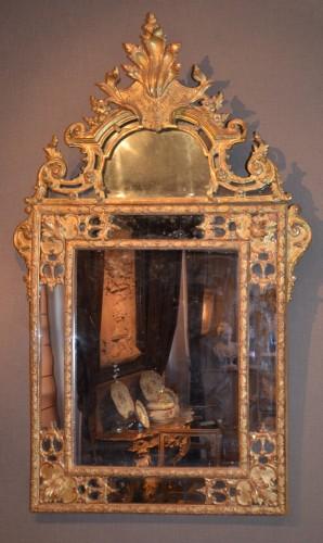 "Tall carved giltwood mirror ""à la Bérain"" - Mirrors, Trumeau Style"