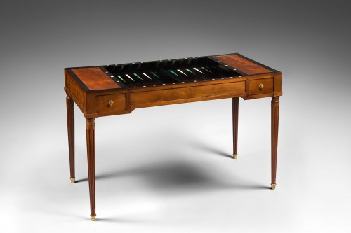 Game Table known as « tric-trac » stamped Martin Ohneberg