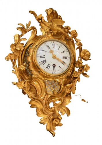 Decorative Wall Clock in Gilded Bronze