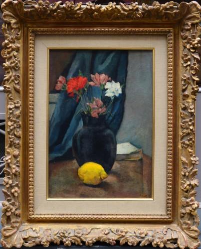 Charles Kvapil (1884-1957) - Lemon and Flowers - Paintings & Drawings Style Art Déco