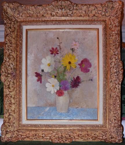 Thérèse Debains (1907-1975)  -  Bouquet of flowers - Paintings & Drawings Style Art nouveau