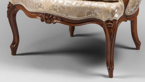 Seating  - Pair of Louis XV Period Armchairs, Stamped Pierre Bara