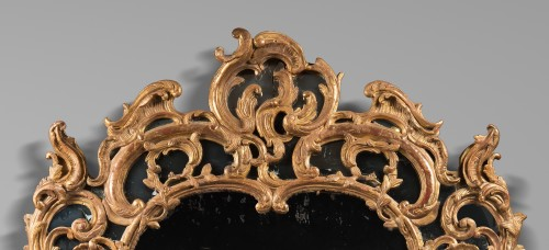 Mirrors, Trumeau  - Tall Rocaille Mirror Louis XV Period