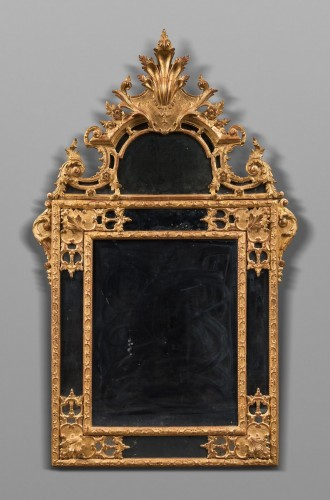 Mirrors, Trumeau  - glazing beads mirror end of the Louis XIV period