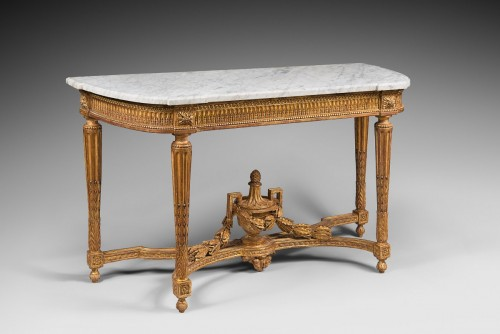 Furniture  - Giltwood Console Table with Rounded Sides