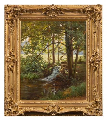 Henri Biva (1848-1928) - Sunny Undergrowth
