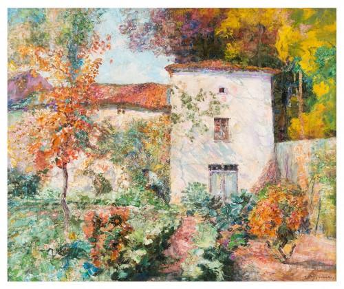 Victor Charreton (1864-1937) - A Garden in autumn