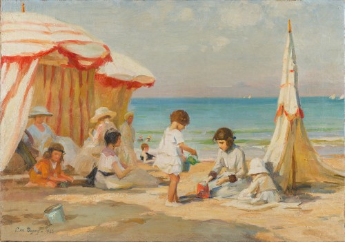 Paul-Michel Dupuy (1869-1949) - Children on a Beach in Normandy