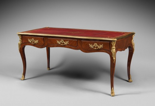 Louis XV Period Flat Desk, Stamped Rochette - Furniture Style Louis XV