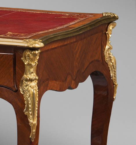 Furniture  - Louis XV Period Flat Desk, Stamped Rochette