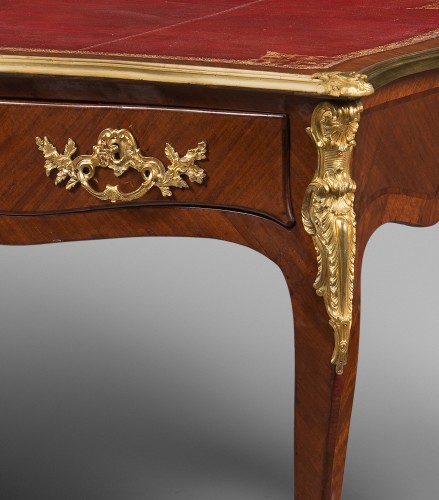 Louis XV Period Flat Desk, Stamped Rochette -