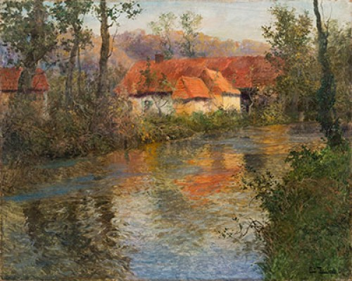 Fritz Thaulow (1847-1906) - The Red Roofs