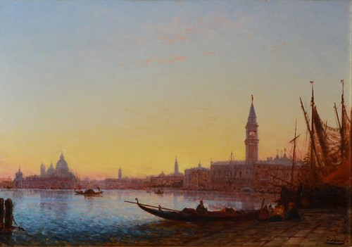 Félix Ziem (1821-1911) - Saint Mark from the Riva degli Schiavoni, Venice