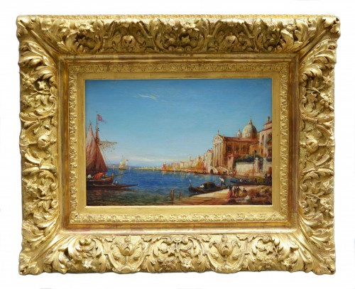 Alfred Bachmann (1863-1956) - View of the Riva degli Schiavoni, Venice - Paintings & Drawings Style Art Déco