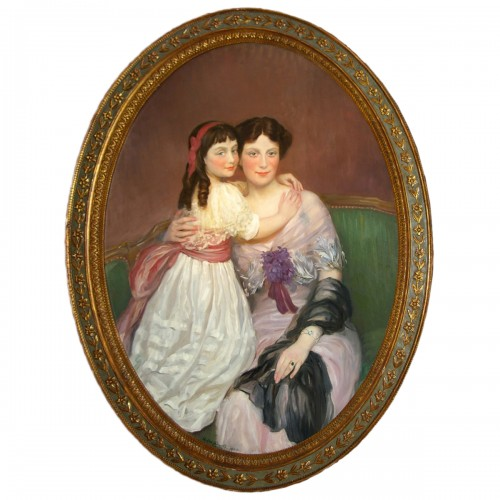 Henry Caro-Delvaille  Portrait Presumed to be of Madame S. and her Daughter