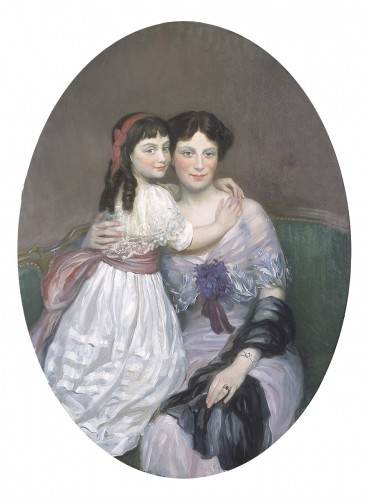 Henry Caro-Delvaille  Portrait Presumed to be of Madame S. and her Daughter - Paintings & Drawings Style
