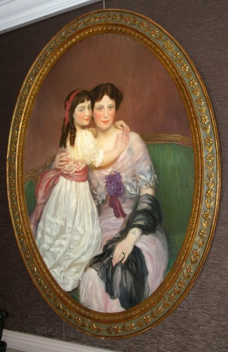 Paintings & Drawings  - Henry Caro-Delvaille  Portrait Presumed to be of Madame S. and her Daughter