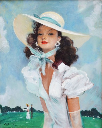 Jean-Gabriel Domergue (1889-1962) - Sunday at the Racecourse