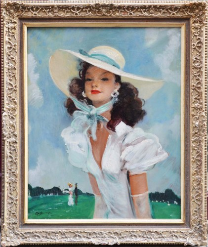 Jean-Gabriel Domergue (1889-1962) - Green Park - Paintings & Drawings Style