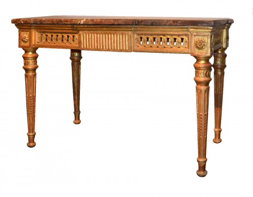 Carved and gilded wooden Console