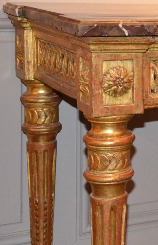 Carved and gilded wooden Console - Furniture Style