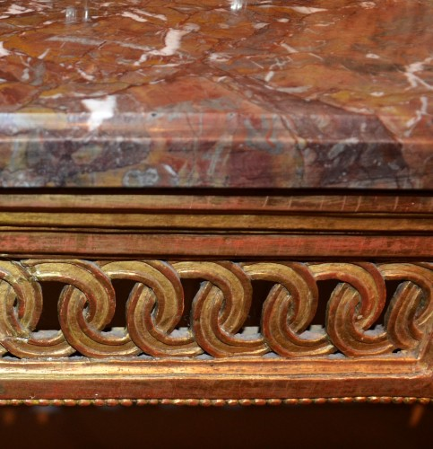 Furniture  -  Carved and gilded wooden Console