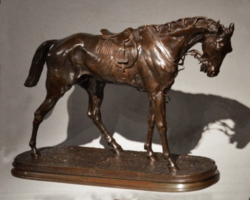 Pierre-Jules Mène (1810-1879) The racehorse - Sculpture Style