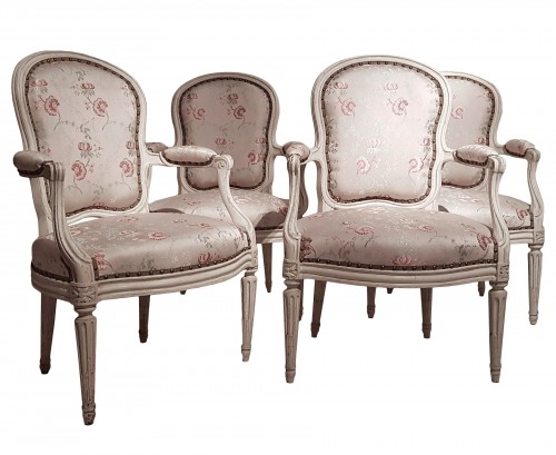 Suite de quatre fauteuils par Georges Jacob