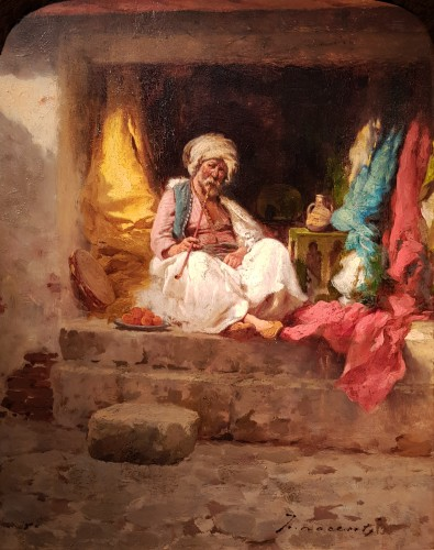 Camillo Innocenti (1871-1961) - The Fabric Merchant