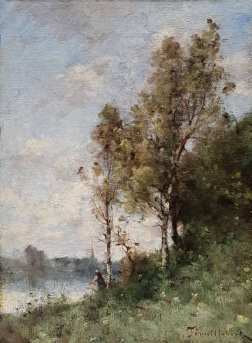 Paul-Désiré Trouillebert (1829-1900) - Fisherman on the Loire River