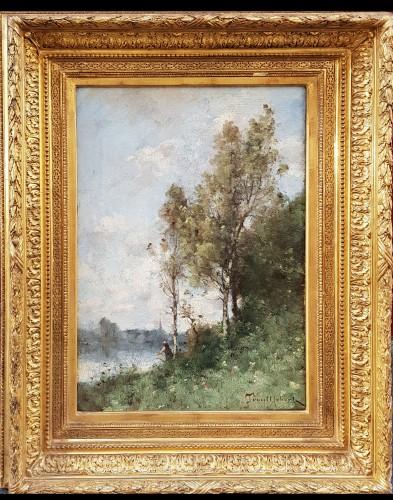 Paul-Désiré Trouillebert (1829-1900) - Fisherman on the Loire River - Paintings & Drawings Style