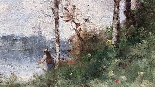Paintings & Drawings  -  Paul-Désiré Trouillebert (1829-1900) - Fisherman on the Loire River