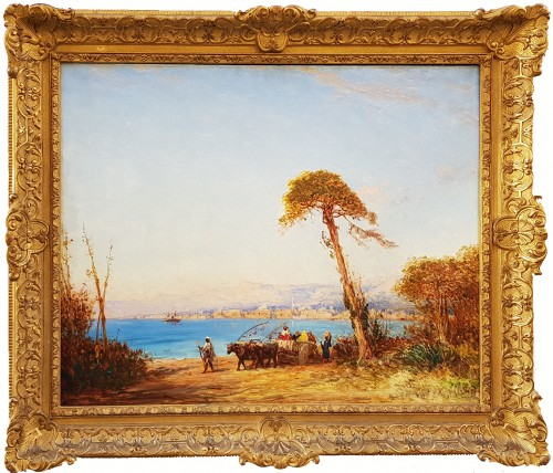 View of the Bosphorus - Felix Ziem (1821-1911) - Paintings & Drawings Style