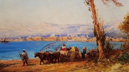 Paintings & Drawings  - View of the Bosphorus - Felix Ziem (1821-1911)