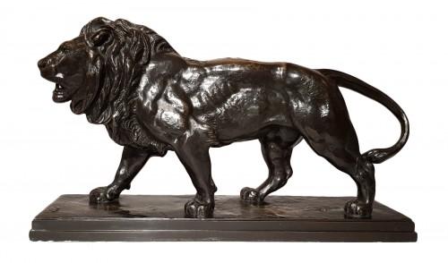 Antoine Louis Barye (1795-1875) - The walking Lion