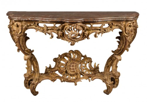 Exceptional Louis XV period console table