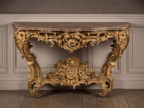 Exceptional Louis XV period console table - Furniture Style Louis XV