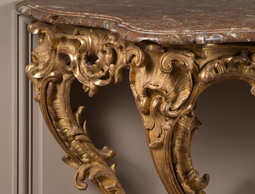 Exceptional Louis XV period console table -
