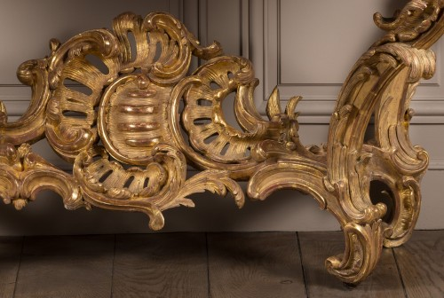 18th century - Exceptional Louis XV period console table