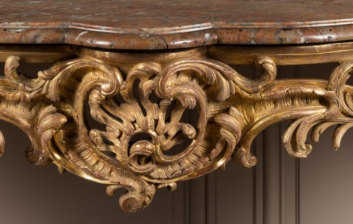 Exceptional Louis XV period console table - Louis XV