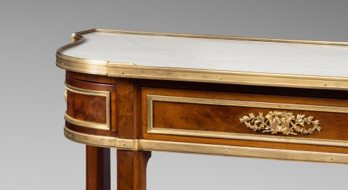 Gervais Durand (1839-1920) - Pair of consoles after a model by Jean-Henri Riesener - Furniture Style Napoléon III