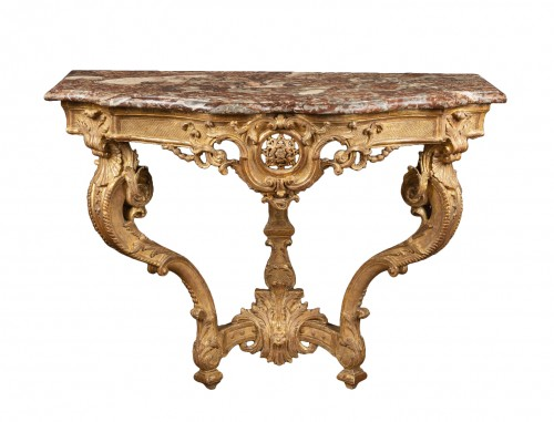 "Carved Giltwood Console ""d'applique"""