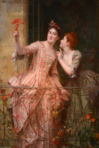 Emile Villa (1836-1900) - Le miroir aux alouettes