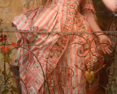 Emile Villa (1836-1900) - Le miroir aux alouettes - Paintings & Drawings Style Napoléon III