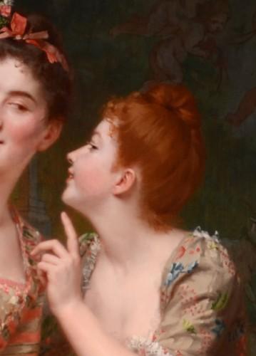 Emile Villa (1836-1900) - Le miroir aux alouettes -