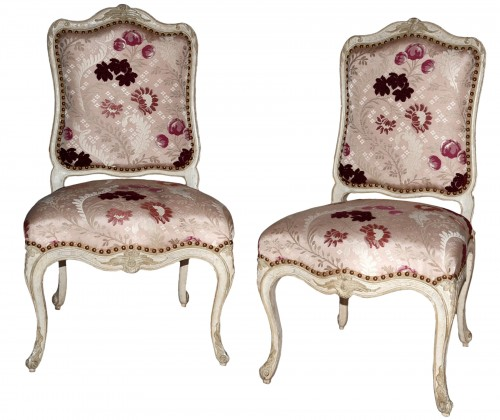 French Louis XV Pair of Chairs