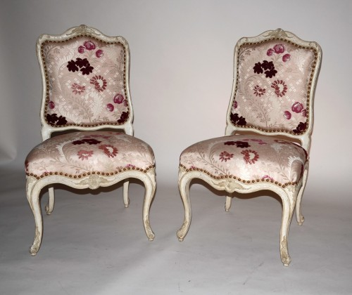18th century - French Louis XV Pair of Chairs