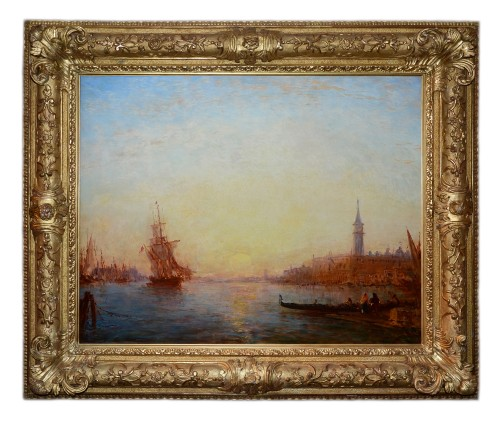 Félix Ziem (1821-1911) Sunrise on the Riva degli Schiavoni, Venice