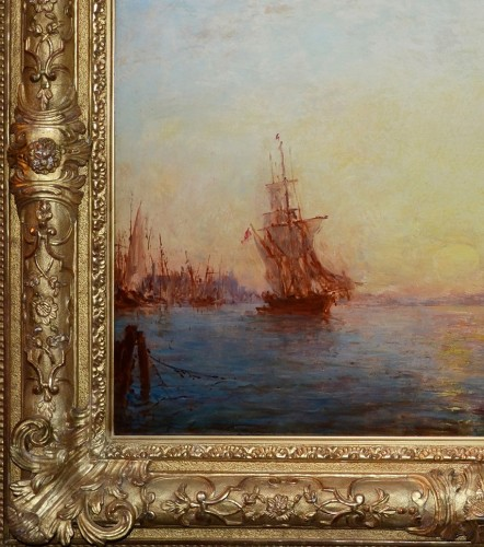 Félix Ziem (1821-1911) Sunrise on the Riva degli Schiavoni, Venice - Paintings & Drawings Style Napoléon III